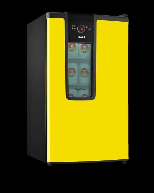 Cervejeira 82 litros Frost Free CZD12AYBNA Amarela - Consul 220 V 8