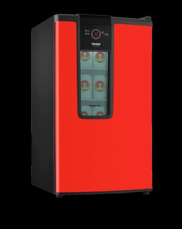 Cervejeira 82 litros Frost Free Vermelha - CZD12AVBNA - Consul 220 V 7
