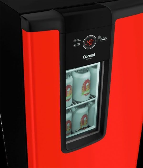Cervejeira 82 litros Frost Free Vermelha - CZD12AVBNA - Consul 220 V 3