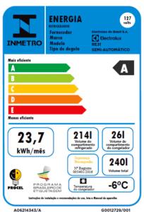 Geladeira / Refrigerador  240 litros Cycle Defrost Branco Controle de Temperatura RE31 - Electrolux 110 V 17