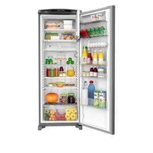 Geladeira / Refrigerador 342 litros Frost Free Inox Gavetão Hortifruti - CRB39AKANA - Consul 110 V 15