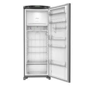 Geladeira / Refrigerador 342 litros Frost Free Inox Gavetão Hortifruti - CRB39AKANA - Consul 110 V 16
