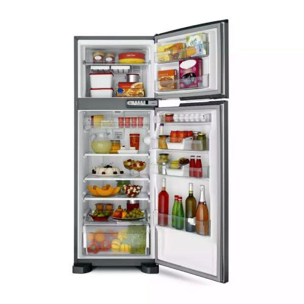 Geladeira / Refrigerador Duplex 352 litros Frost Free Inox - BRM39EKANA - Brastemp 110 V 5