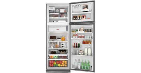 Geladeira / Refrigerador Duplex 478 litros Adega Freeze Control Frost Free Branco - BRM59ABANA - Brastemp 110 V 6