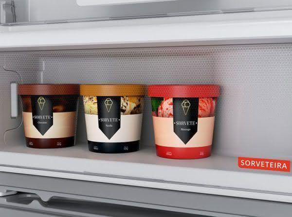 Geladeira / Refrigerador Duplex 500 litros Frost Free Branco - BRM58ABBNA - Brastemp 220 V 7
