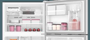 Geladeira / Refrigerador Duplex 553 litros Frost Free Branco Blue Touch DF82 Electrolux 110 V 9