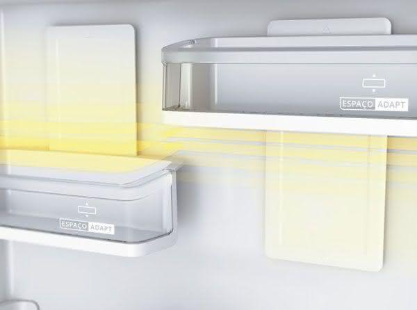 Geladeira / Refrigerador Inverse 443 litros Frost Free Inox - BRE57AKANA - Brastemp 110 V 5