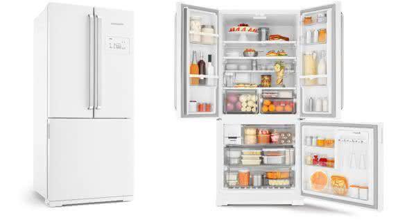 Geladeira / Refrigerador Side by Side Inverse Bottom 540 litros Frost Free Ice Maker Branco - BRO80ABANA - Brastemp 110 V 3