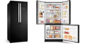 Geladeira / Refrigerador Side by Side Inverse Bottom 540 litros Frost Free Ice Maker Preto - BRO80AEANA - Brastemp 110 V 5