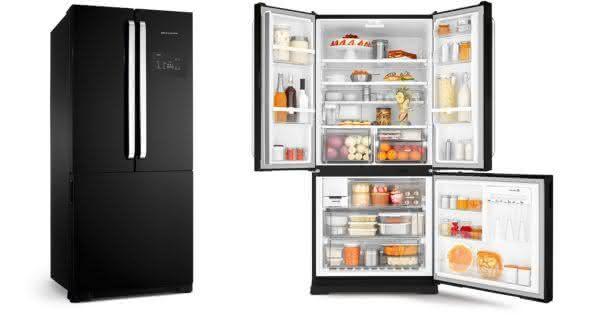 Geladeira / Refrigerador Side by Side Inverse Bottom 540 litros Frost Free Ice Maker Preto - BRO80AEANA - Brastemp 110 V 2