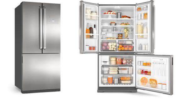 Geladeira / Refrigerador Side by Side Inverse Bottom Ice Maker 540 litros Frost Free Inox - BRO80AKBNA - Brastemp 220 V 2