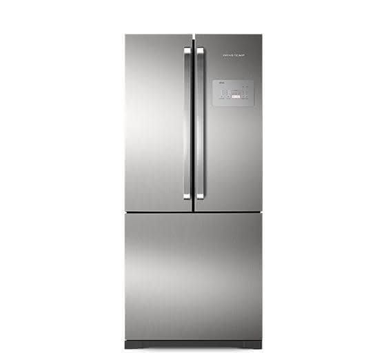 Geladeira / Refrigerador Side by Side Inverse Bottom Ice Maker 540 litros Frost Free Inox - BRO80AKBNA - Brastemp 220 V 8