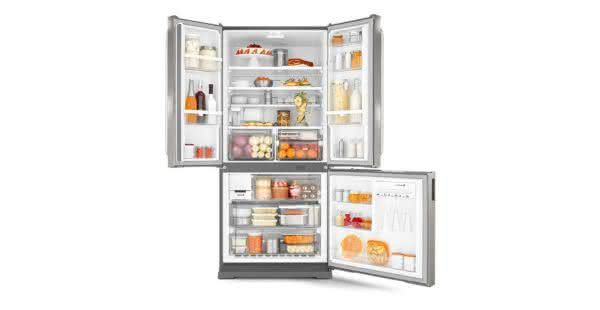 Geladeira / Refrigerador Side by Side Inverse Bottom Ice Maker 540 litros Frost Free Inox - BRO80AKBNA - Brastemp 220 V 5