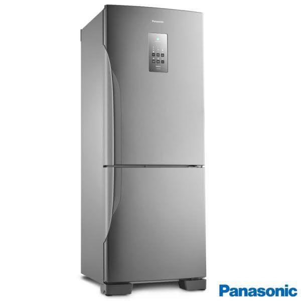 Geladeira / Refrigerador Inverse Bottom 425 litros Frost Free Inox - NR-BB53PV3XB - Panasonic 220 V 1
