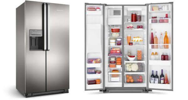 Geladeira / Refrigerador Side by Side Brastemp 560 litros com Dispenser de Água e Gelo Branco - BRS62CBANA - Brastemp 110 V 2