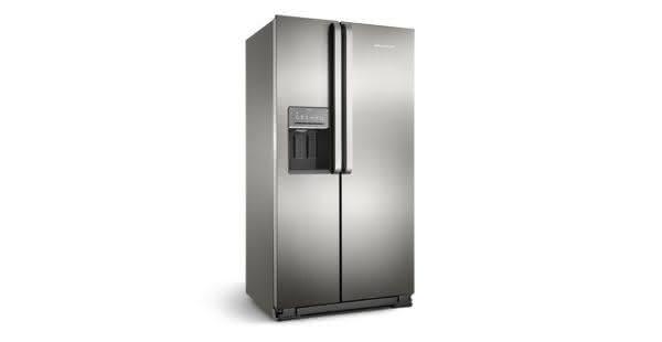 Geladeira / Refrigerador Side by Side Brastemp 560 litros com Dispenser de Água e Gelo Inox - BRS62CRBNA - Brastemp 220 V 3