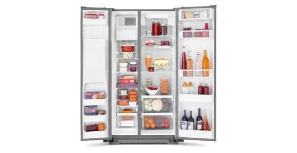 Geladeira / Refrigerador Side by Side Brastemp 560 litros com Dispenser de Água e Gelo Branco - BRS62CBANA - Brastemp 110 V 6
