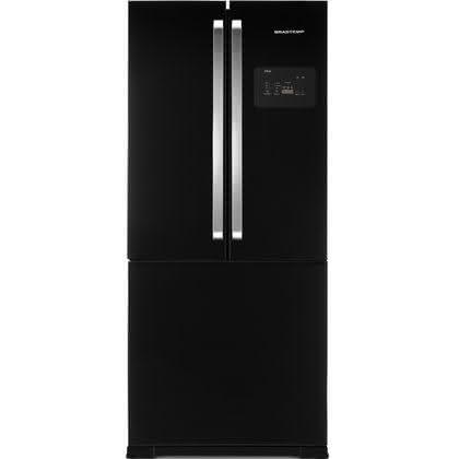 Geladeira / Refrigerador Side by Side Inverse Bottom 540 litros Frost Free Ice Maker Preto - BRO80AEANA - Brastemp 110 V 1
