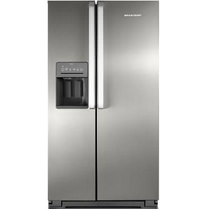 Geladeira / Refrigerador Side by Side Brastemp 560 litros com Dispenser de Água e Gelo Inox - BRS62CRBNA - Brastemp 220 V 1
