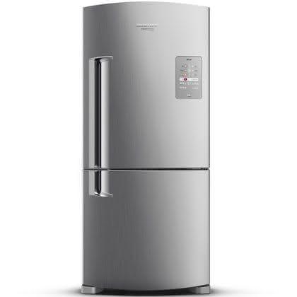 Geladeira / Refrigerador Inverse 573 litros Smart Ice Frost Free Inox - BRE80AKANA - Brastemp 110 V