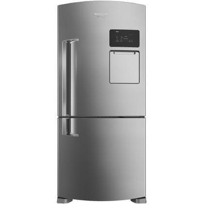 Geladeira / Refrigerador Inverse 565 litros Frost Free Inox - BRV80AKANA - Brastemp 110 V