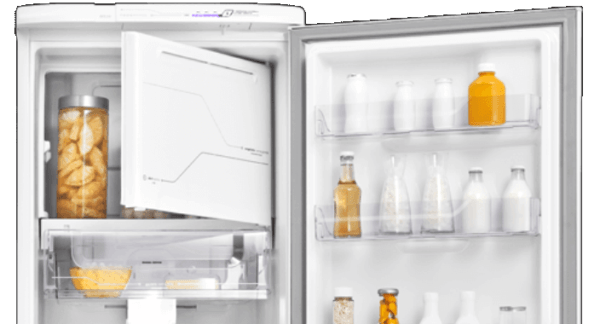 Geladeira / Refrigerador 323 litros Frost Free Branco Painel Blue Touch RFE39 - Electrolux 110 V 6