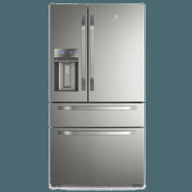 Refrigerador French Door 540L Electrolux, Dispenser de Água e Gelo Platinum (DM90X) 110V 1